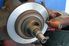 Brake lathe 3 Royalty Free Stock Photography