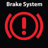 Brake light signal icon on the car panel. Dashboard warning signs. Attention icon. Royalty Free Stock Photo