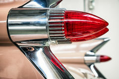 Brake lights. Old brake lights of a historic cadillac Royalty Free Stock Photo