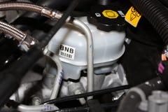 Brake Master Cylinder. And Reservoir on a motor vehicle Stock Images