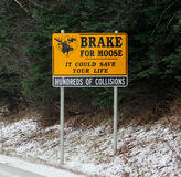 Brake for Moose road sign Stock Photo