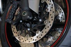 Brake. Motorcycle brakes. Motorcycle brake disc Stock Photo