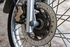 Brake motorcycle Royalty Free Stock Photos