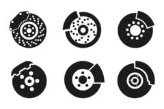 Free Brake Pad Icons Parts For Cars - Vector Royalty Free Stock Photos - 130735328