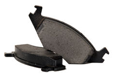 Brake pads for automobile wheels Stock Photo