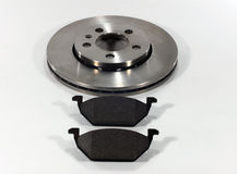 Brake pads and brake disc Stock Images