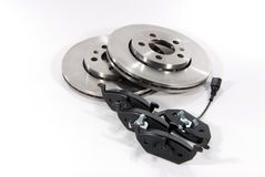 Brake pads and brake discs Stock Image