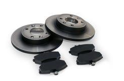 Brake pads and brake discs Royalty Free Stock Photography