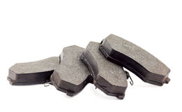Brake pads. For the car on a white background Royalty Free Stock Photography