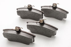 Brake pads. For the car on a white background Royalty Free Stock Images