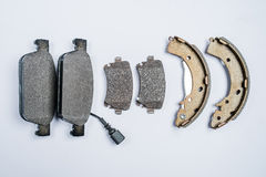 Brake pads for car on white background Royalty Free Stock Photo