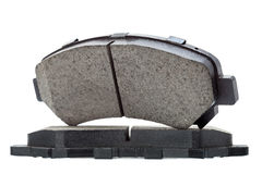 Brake pads isolated. Brake pads isolated, car part automobile brake shoes on a white background Royalty Free Stock Photography