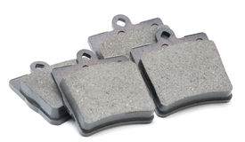 Brake pads on isolated. White background Royalty Free Stock Photos