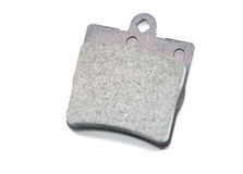 Brake pads on isolated Stock Image