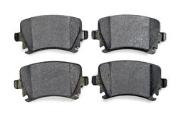 Brake pads isolated on white background. Brake pads isolated on a white background Royalty Free Stock Photography