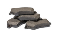 Brake pads. Isolated on white with clipping path Royalty Free Stock Image