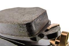 Brake pads seen close up stock images