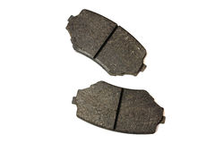 Brake pads. On a white background Stock Photos