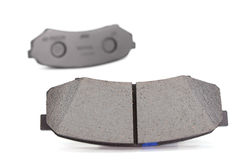 Brake pads. On a white background Royalty Free Stock Photography