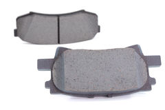 Brake pads. On a white background Royalty Free Stock Photos