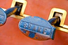 Brake pedal Stock Image