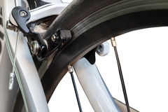 Brake of a race road bike Stock Photos