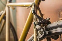 Brake the rear wheel Stock Photo