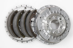 Brake shoes and drums Stock Images