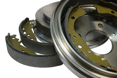 Brake shoes and drums Stock Photography