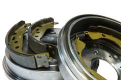 Brake shoes and drums Royalty Free Stock Image