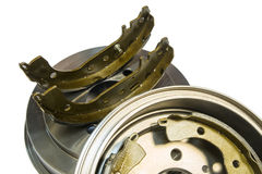 Brake shoes and drums Stock Photos