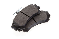 Brake shoes on a white background Stock Image
