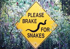 Brake for Snakes Royalty Free Stock Image
