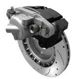 Brake system. Three dimensional visualization of brake system, autospare royalty free illustration