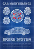 Brake system car maintenance vector illustration Stock Image