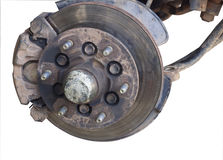 Brake system cars Repairs. Brake system car Repairs old steel industry royalty free stock images