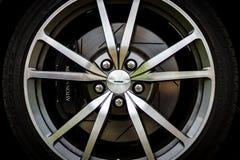 Brake system of a sports car Aston Martin Vantage, 2010. Stock Photo