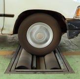 Brake testing system of car Royalty Free Stock Image