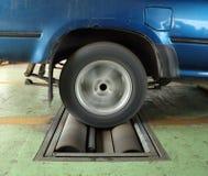 Brake testing system of car Stock Photo