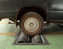 Brake testing system of car Royalty Free Stock Photos