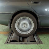 Brake testing system of car Stock Photography