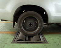 Brake testing system of car Royalty Free Stock Photo