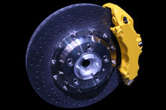 Brakes. Isolated disc brakes of a car Royalty Free Stock Photos