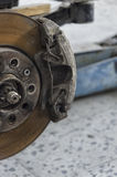 The brakes calipers of a car Stock Photo