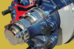 Brakes inside. Brakes mechanism cutout close up Royalty Free Stock Image