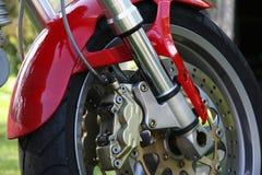 brakes motorcykeln Arkivbild