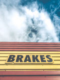 Brakes Sign At Auto Repair Shop Royalty Free Stock Photography