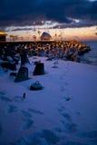 Brakewater sur la mer baltique Image stock