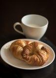 Brakfast do croissant Imagem de Stock