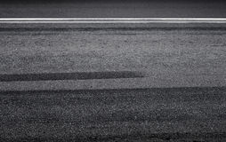 Braking tracks on the asphalt road Royalty Free Stock Photos